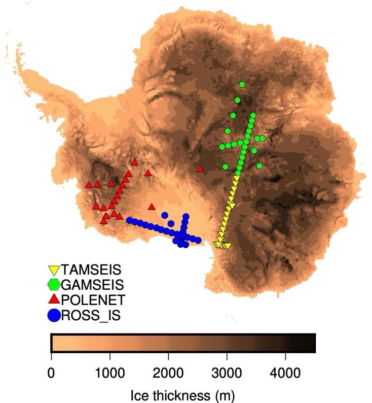 Antarctic seismic stations