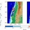 W-phase fault slip distributions for the Maule event.