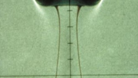 A laboratory simulation of mantle plume. Photo R. Griffiths.